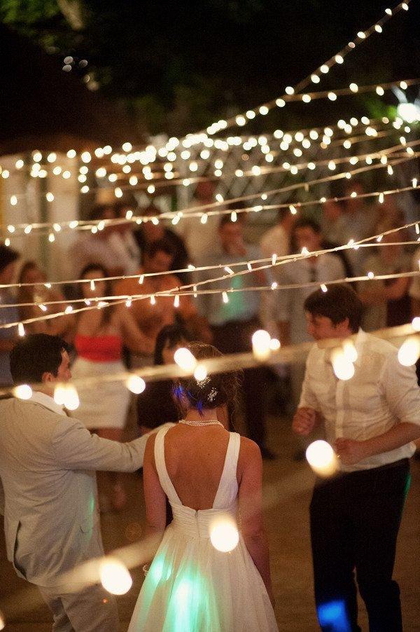 Outdoor Lighted Wedding