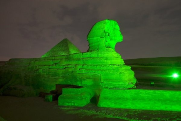 The Sphinx and Great Pyramid, Giza, Egypt