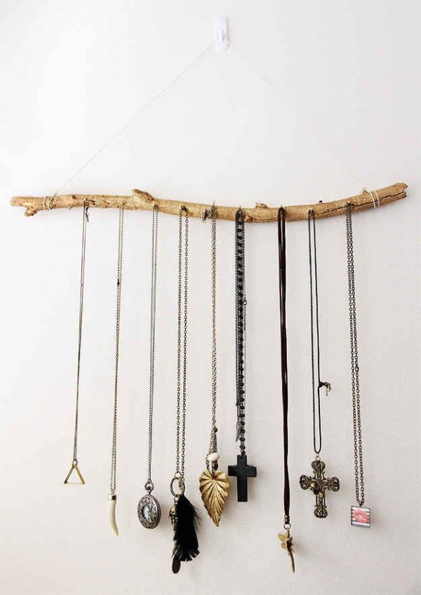 Use a Branch as a Jewelry Holder