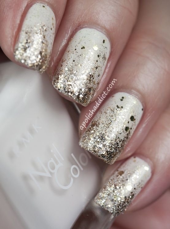 White snow nails 22 winter wedding nail art designs for your white snow nails prinsesfo Gallery