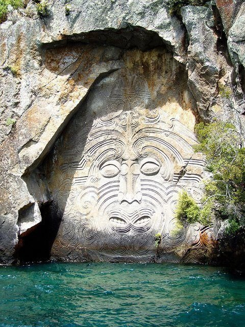 Ancient maori wall carvings breathtaking sights of new…