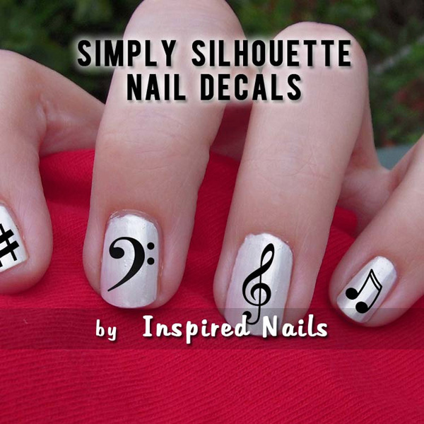 Awesome Nail Art Designs In Water Huge Nail Damage From Gel Polish Manicure Solid Nail Art Stripes Tape Non Toxic Nail Polish Brands Youthful Nail Art Design With Stones PurpleNail Polish For Toenail Fungus 4. Music Nail Decal Stickers   7 Best Nail Art Decals ..