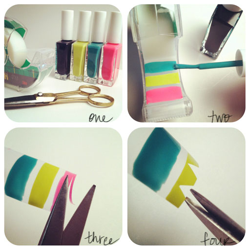 Nail Art Using Painters Tape: 7 Ways To Make Nail Designs Using Tape ... …