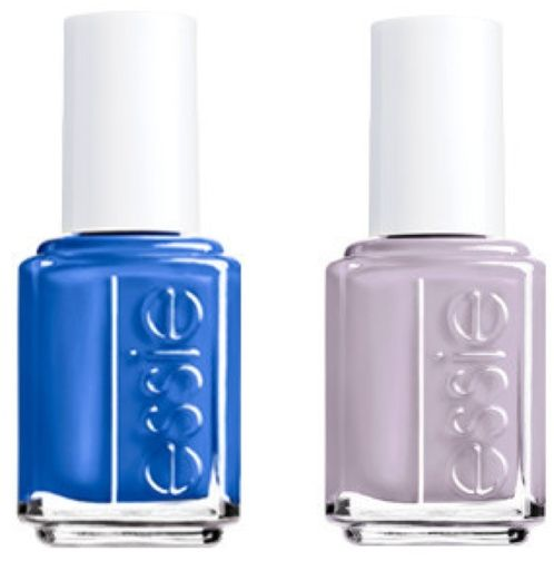 Blue Nail Polish Combinations: Electric Blue And Soft Lavender