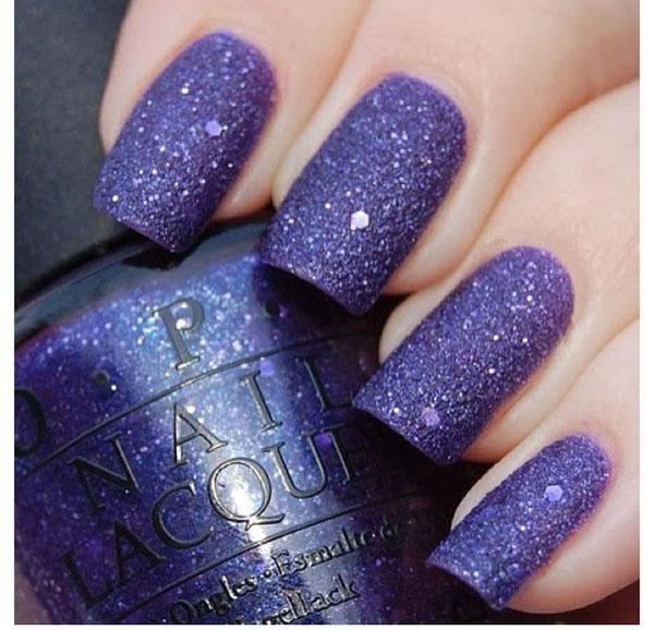 Glittering Purple Nail Polish