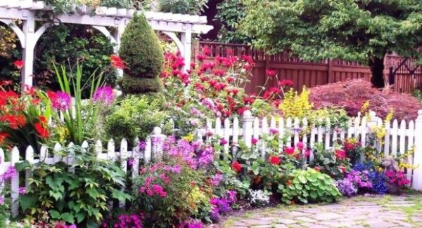 White picket fence 46 fun ideas for your little flower for Amazing flower gardens