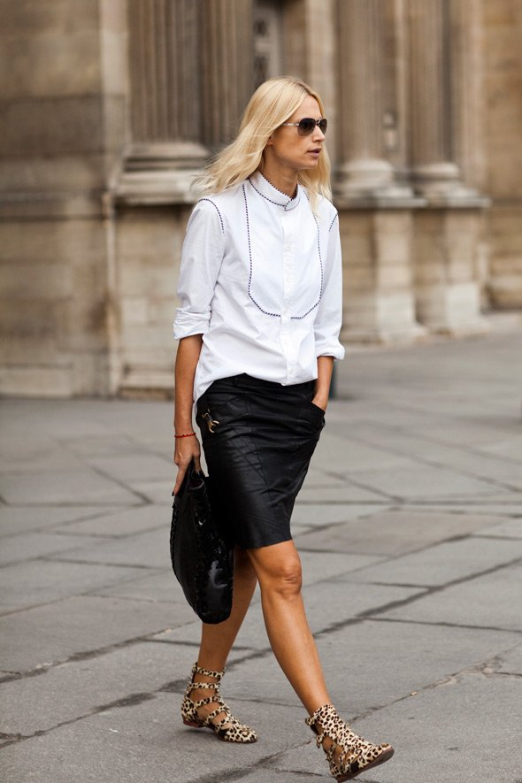 Black, White, and Some Statement Sandals