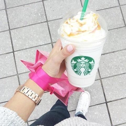 Starbucks, footwear, dessert, shoe, food,