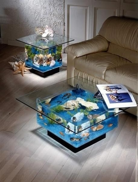Fish Tank Tables 46 Inspiring Fish Tanks For The Aquatic Lover. Bedroom With Fish Tank   BedroomChampion com