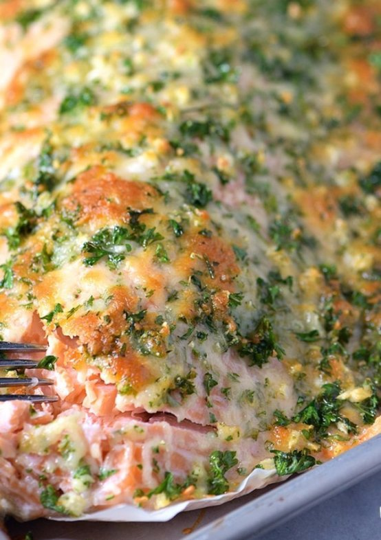 Parmesan Herb Baked Salmon