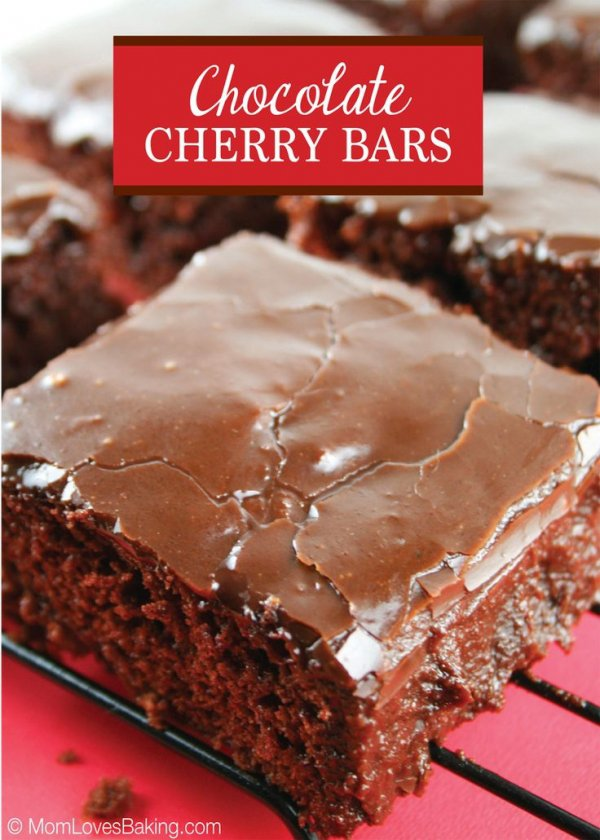 Chocolate Cherry Bars - Sweet! 38 Cherry Recipes to Try This…