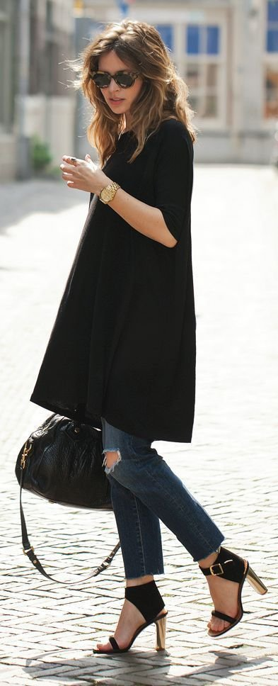 Here's Further Proof Why You Should Rock a Long Tunic over Your Jeans