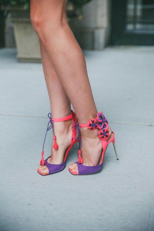 footwear,color,high heeled footwear,red,pink,