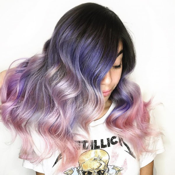 hair, purple, human hair color, hair coloring, violet,