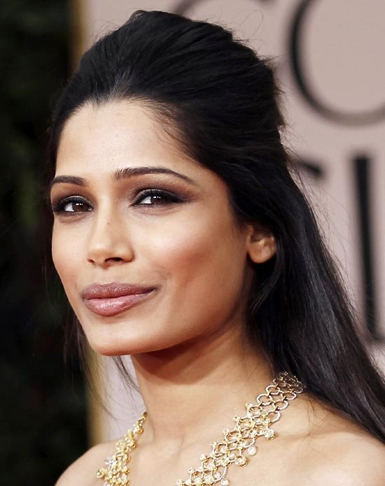 Darker Skin Tone with Yellow Undertones - 7 Tips on How to ... Freida Pinto Lipstick Color