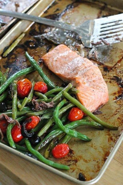 Tray Baked Salmon with Veggies
