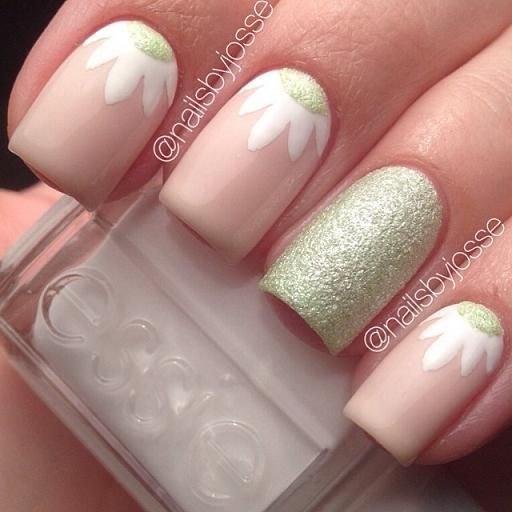 Springtime nails 45 flirty spring nail art ideas for nail springtime nails prinsesfo Image collections