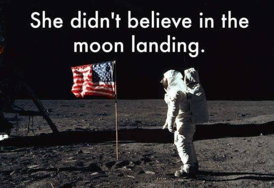 Because of the Moon Landing