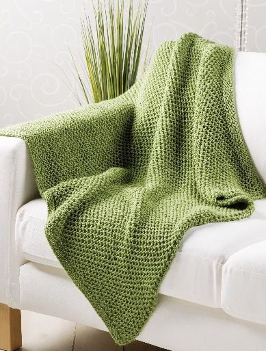 Knitting Pattern For A Throw Blanket : Seagrass Throw - 20 Cozy Throw Blankets for Any Spot in Your?