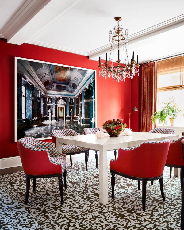 dining room, room, red, property, living room,