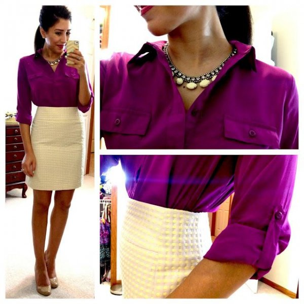 Button-down and a Pencil Skirt