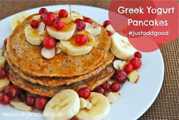 21. Vanilla Greek Yogurt Pancakes - 31 Light and Healthy Breakfasts…