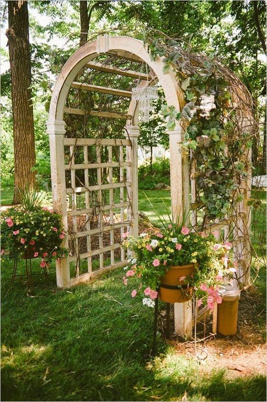 Jardin treillis arc de mariage mariage 53 arches for Treillis jardin