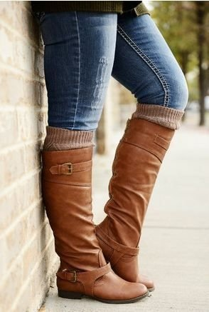 Riding Boots with Leg Warmers - 19 Cozy Leg Warmers for Fall and…