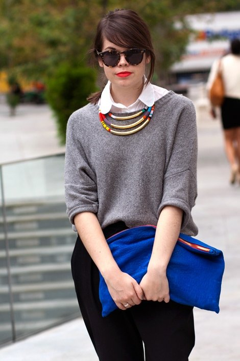 A Sweater over a Button-down