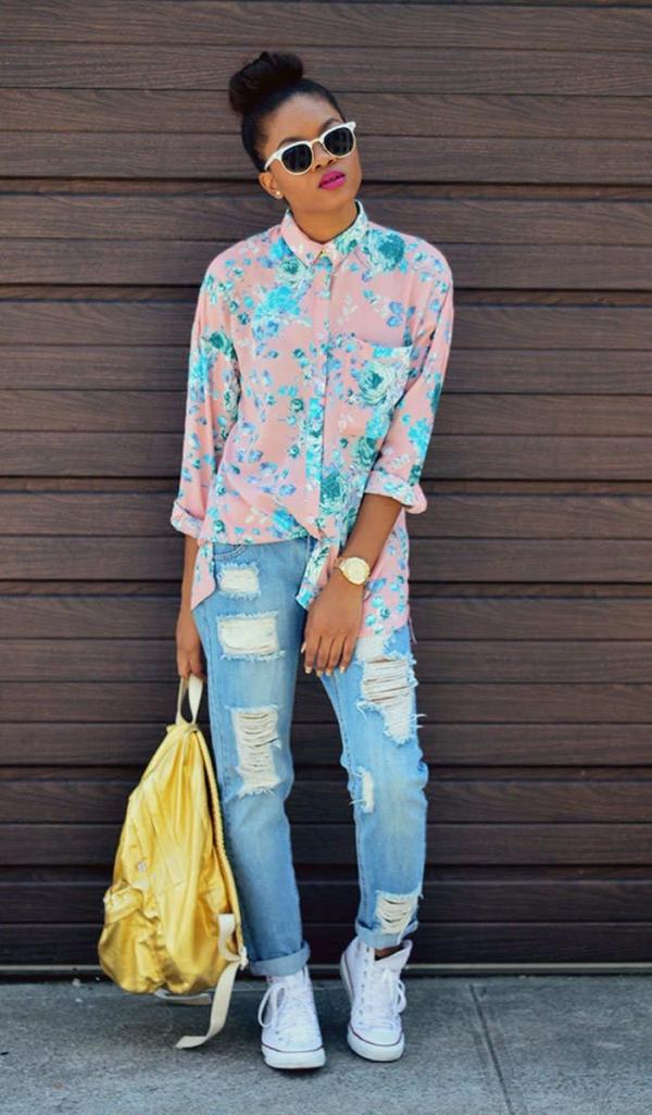Rocker Chic Distressed Jeans