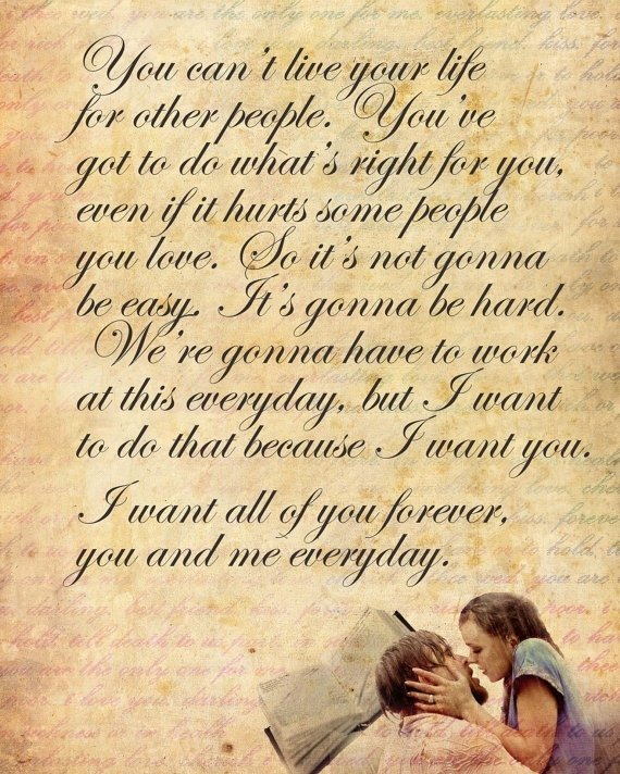 romantic quotes from the notebook quotesgram