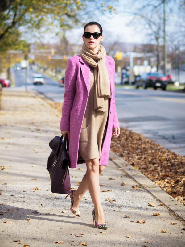 Statement Jacket and a Cashmere Scarf