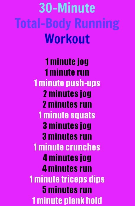 30-Minute, Total-Body Running Workout