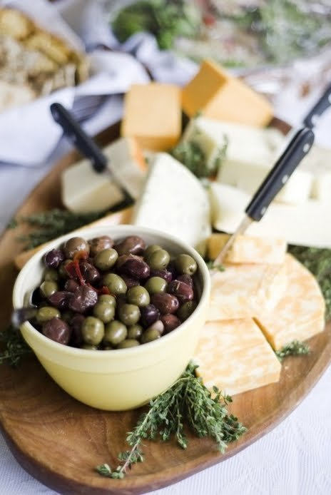 Olives and Swiss Cheese