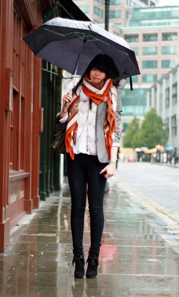 Colorful Scarves Were Made for Rainy Days (and Mondays)