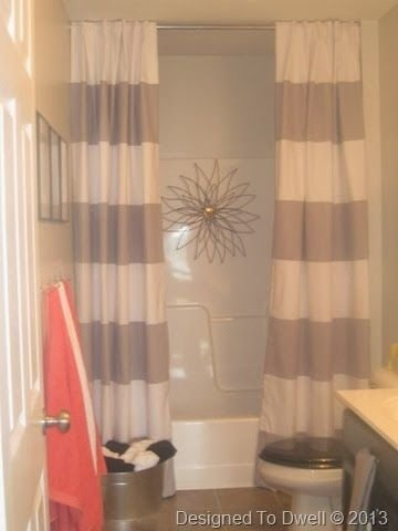 Striped shower curtain 25 fantastic shower curtains to Bathroom shower curtain ideas