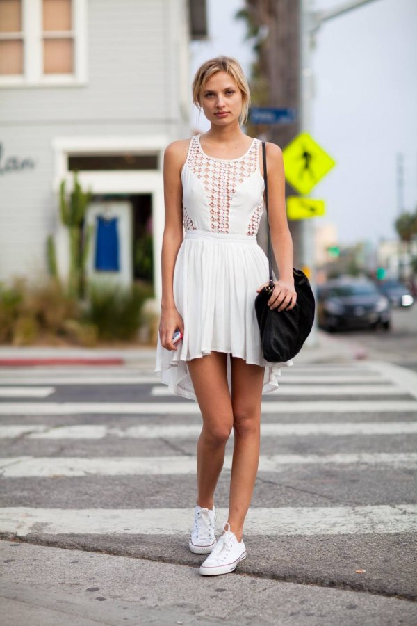 Summer Ready: White Cut-out Dress