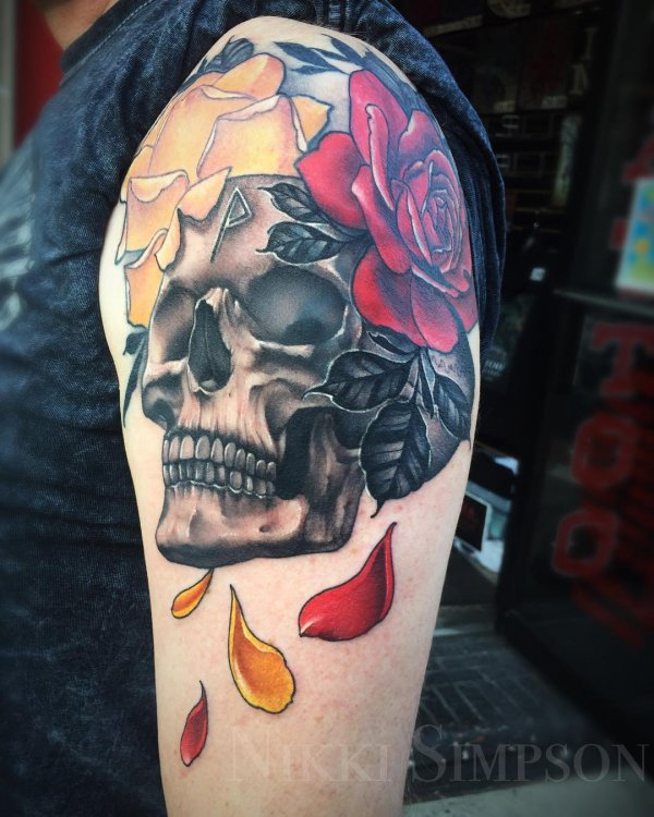 tattoo, skull, arm, tattoo artist, temporary tattoo,