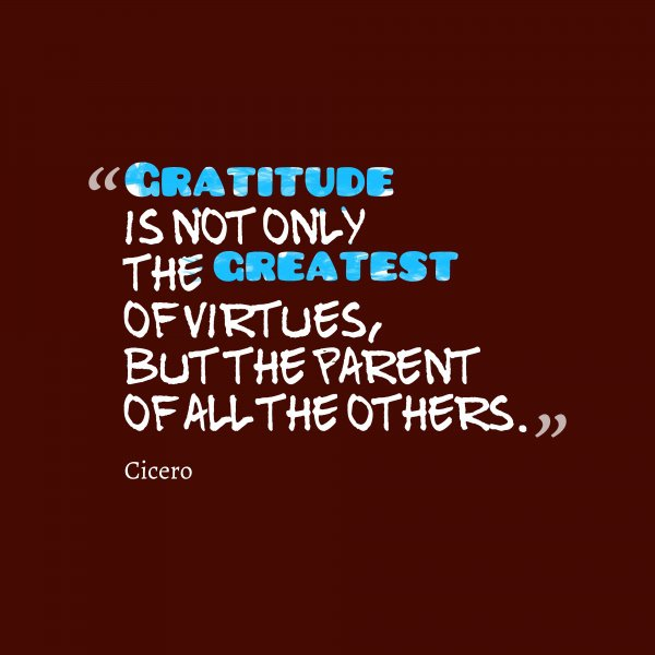 Gratitude Feeds Other Virtues