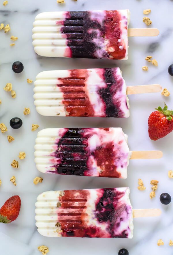 Berry Parfait Yogurt Pops