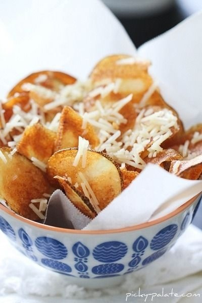 23. Parmesan Potato Chips - 26 Fruit and Veggie Chips to Snack on ...