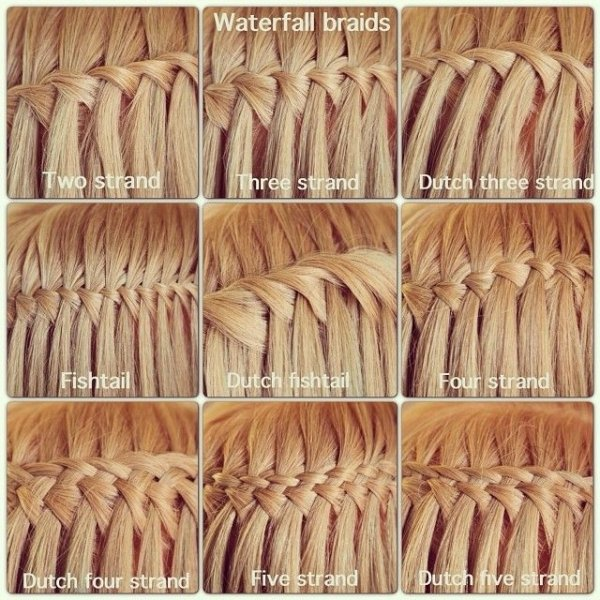 Different Types Of Waterfall Braids 43 Fancy Braided