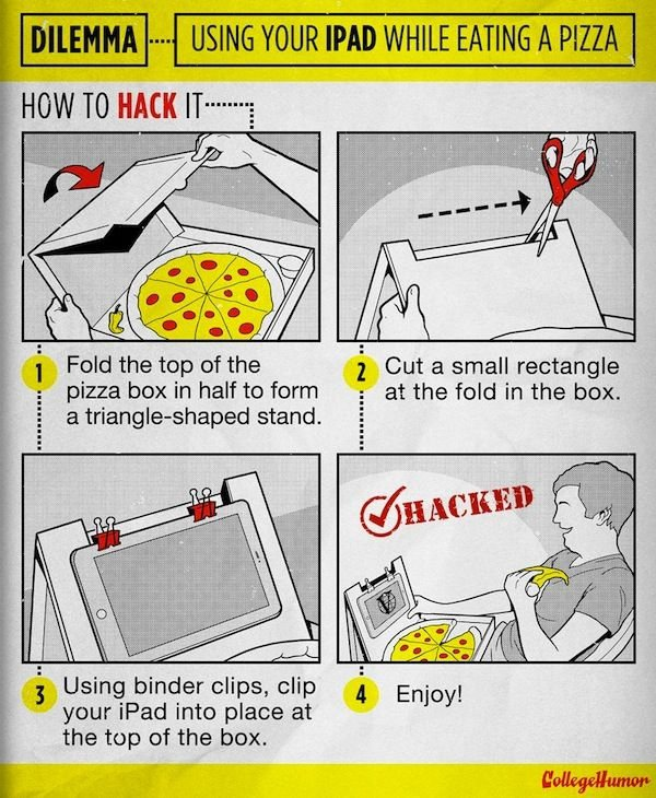 How to Eat Pizza and Use Your IPad at the Same Time