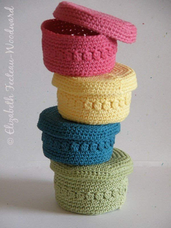 Crocheted Baskets - 27 DIY Trinket Boxes to Keep Your Bling…