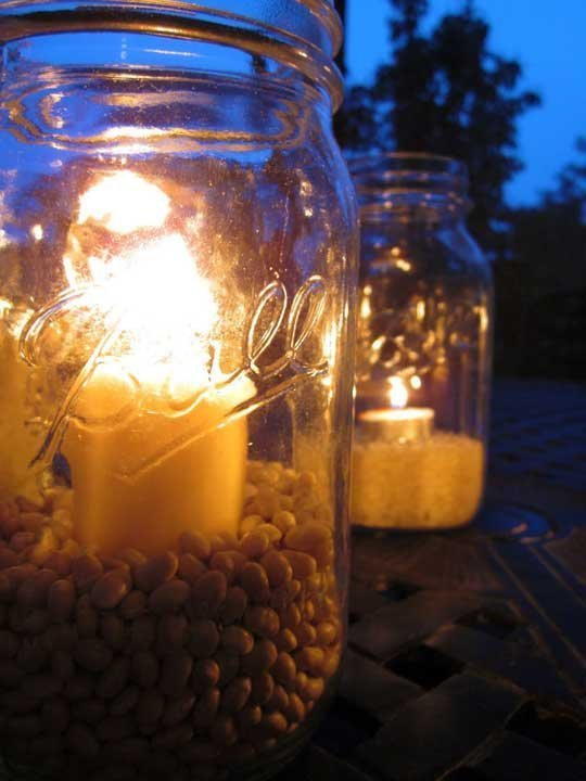 Hang Candles from the Trees for an Outdoor Party