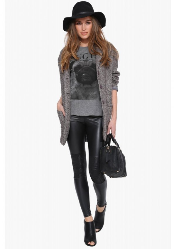 Bad Bones Leather Leggings