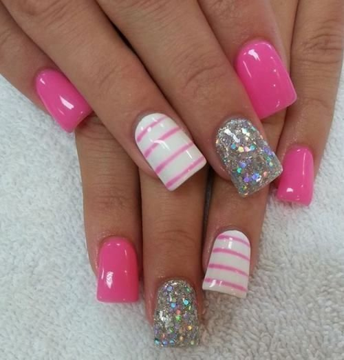 Barbie pink nails with stripes this is what striped nail art barbie pink nails with stripes prinsesfo Choice Image