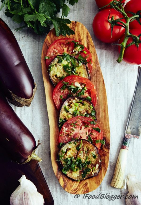 Roasted Eggplant and Tomato Slices
