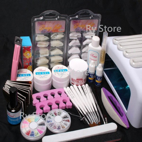 25 in 1 Professional Nail Art UV Gel Kit