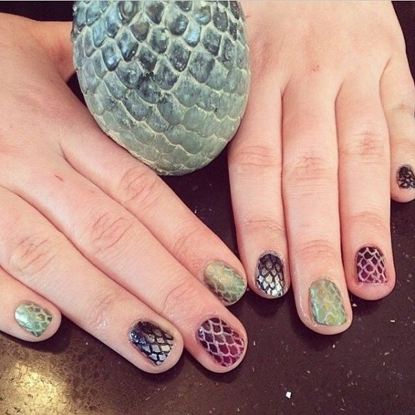 Different Colored Dragon Egg Nails - Different Colored Dragon Egg Nails - The 30 Best Dragon Nail Art…